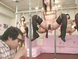Japanese teen squirt sex Japanese girls in rope used with vibrator eggs