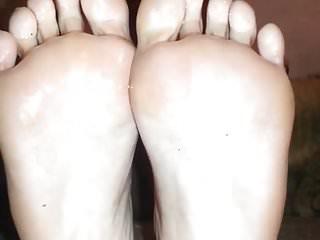Sexy oily breast massage - Sexy oily soles