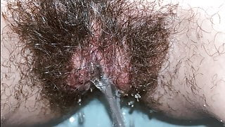 Pissing after cumming