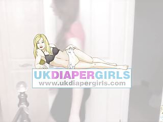 Diaper punishment stories spanked - Brook gives chloe a spanking with her diaper pulled down