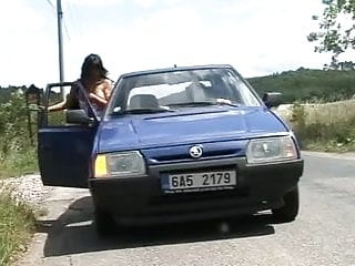 Sex in car photos Czech whore sex in car