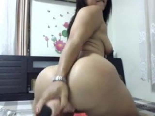 Big Ass Creamy Dildo Ride