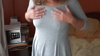 MATURE WIFE AND MOTHER, EXHIBITING HER DELICIOUS TITS, LINGERIE