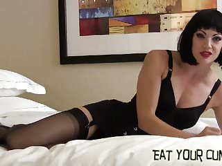 Eat own load femdom Eat a hot load of your own cum for me cei