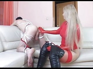 Fisted slave girl Domina ass fisting slave