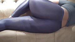 Big Ass In Shiny spandex Spandex