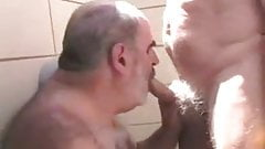 Older men sucking another old grandpa's cock