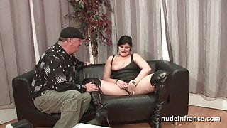 Amateur bbw french slut hard sodomized and cum covered 4some