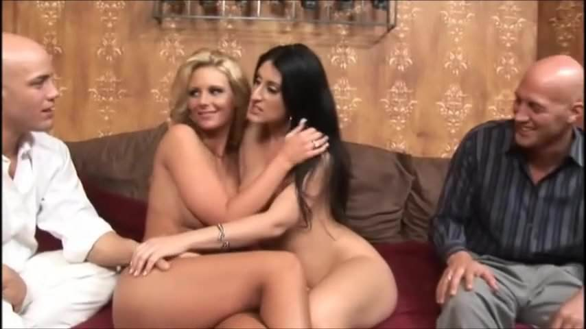 Two Milfs Share Black Cock