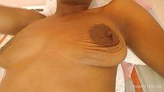 Black little saggy tits.