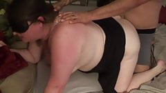 smoking hot step mom Bbw cuck wife 1st bbc anal pt2 kissing