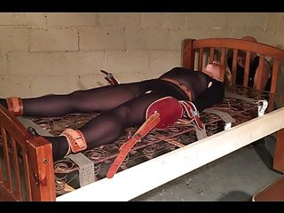 Army sex tied down - Foxy slave girl is tied down and tormented