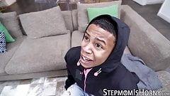 Ebony stepson plows his cute BBW mother Joslyn Jane