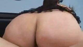 BBW Trista's big butt - anal & facial