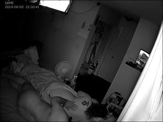 Photograph of naked couple Naked couple on bed security camera