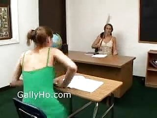 Discipline gay Teacher disciplines her student by fucking her in class