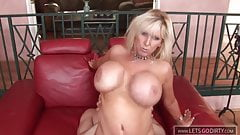 Blond Mature with big Boobs enjoy her Stepson