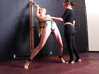 Estim penis stimulation Arched, whipped and stimulated