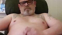 Stig Rune risky wanking in livingroom