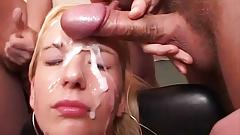 her first massive bukkake fuck orgy