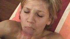 Scandanavian Blonde GF Masturbates and Rides