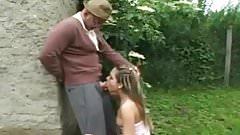 STP5 Grandpa Takes Care Of Her Cute Little Bush !