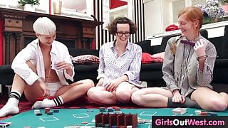 Three amateur lesbians lick hairy pussies and assholes