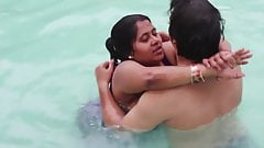 Desi Bhabhi teaching Swimming to Devar