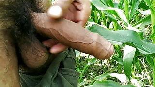Indian big cock masturbation in outdoor, viral