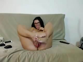 Erotic posing woman Goofy woman gives some leg show, playing, and posing