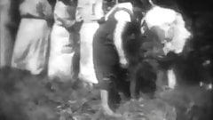 Horny Mademoiselles get Spanked in Woods (1930s Vintage)