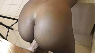 African maid doggystyle and cum inside