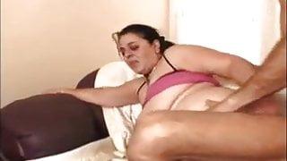 BBW desi granny takes 2 cocks and big dildo