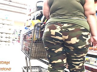Camo girl on girl porn - Candid bbw camo booty