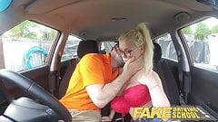 Fake Driving School Busty blonde learner fucks instructor
