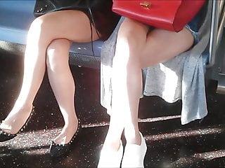 Asians fucked on train Asian legs on train 5