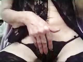 Milf lace and cum Elcy kinky cum in black lace