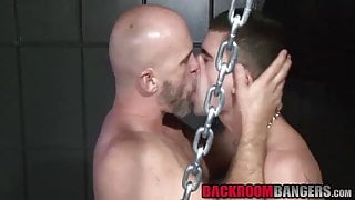 Nasty gay dudes with hard cocks having hardcore fetish sex