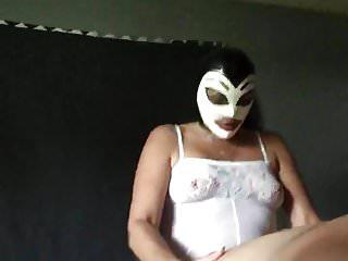 A latex mask - Husband pegging latex mask pet