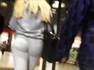 Inside of an ass Teen ass inside of white tight jean close filmed