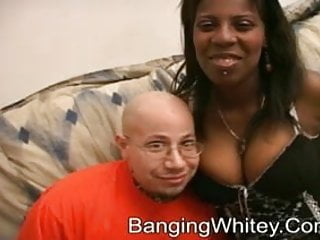 White boy fucked by ten dicks A black whore and a fucking white boy