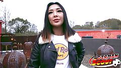 GERMAN SCOUT - CUTE THAI TEEN SEDUCE TO FUCK AT STREET CAST