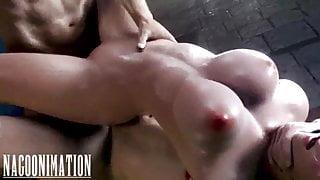 Tifa Lockhart gets double penetrated