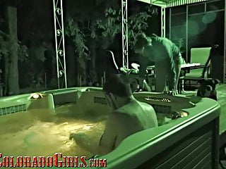 Adult toys for the hot tub - Eating my buxum neighbors shaved pussy in the hot tub