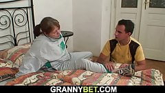 Injured 70 years old granny please young stranger