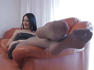 Pantyhose foot Francesca pantyhose foot tease