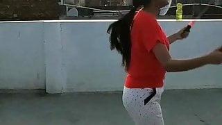 Desi girl boobs jumping