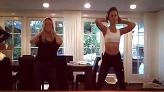 Kate Beckinsale & hot blonde friend dance to ''Everybody''