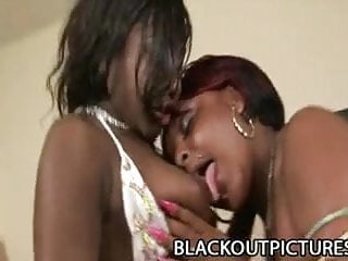 Free lesbian water torture - Amile waters and miss suckable - black on black lesbian sex