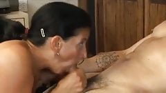 hot cougar gets a young cock